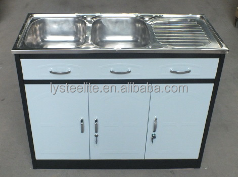 Modern multiple style Luoyang STEELITE stainless steel metal commercial kitchen sink base cabinet