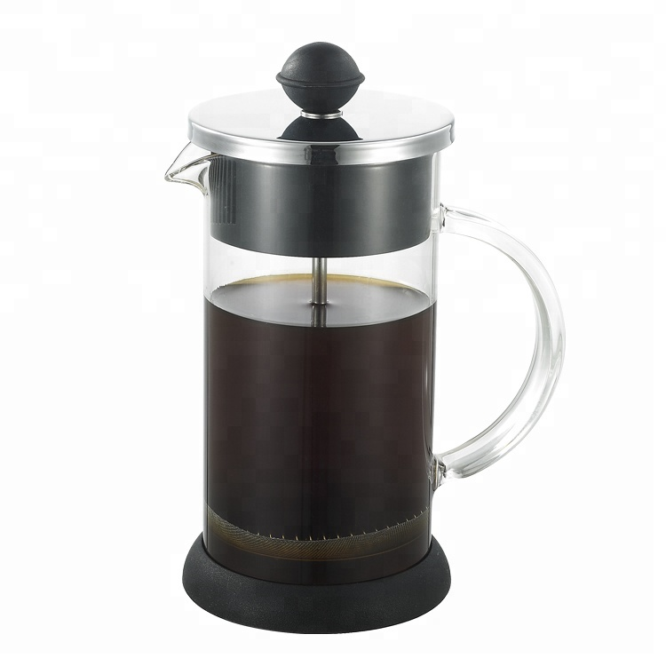 350ml/600ml Borosilicate Glass French Press Coffee Maker Pot With Stainless Steel Plunger