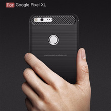 Case For Google Pixel XL Carbon Fiber Texture Brushed Soft Silicone TPU Back Cover For Google Pixel XL M-014