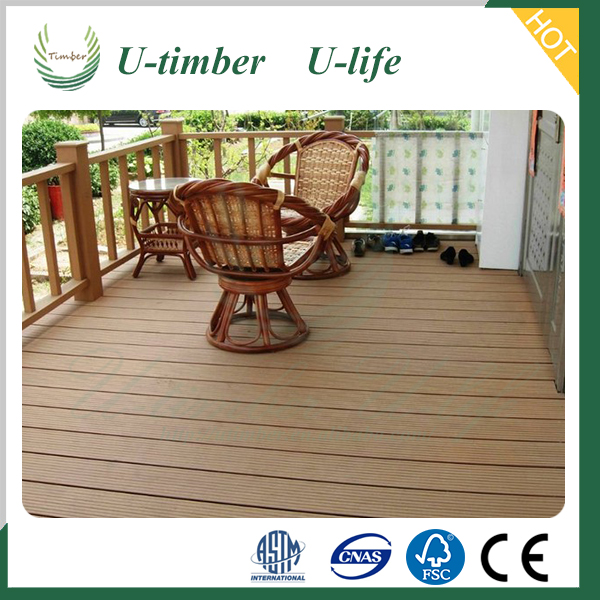 WPC decking flooring, deck floor wood plastic composite