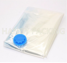 Stand Up rolled compression bag roll-up vacuum for clothes