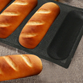 Bluedrop Silicone bread molds hot dog bun shape forms sandwich bakery trays perforated baking mesh sheets