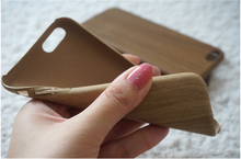 1PCS is accepted phone case wood pu back cover case for iphone 7 for iphone 6s for S7 edge