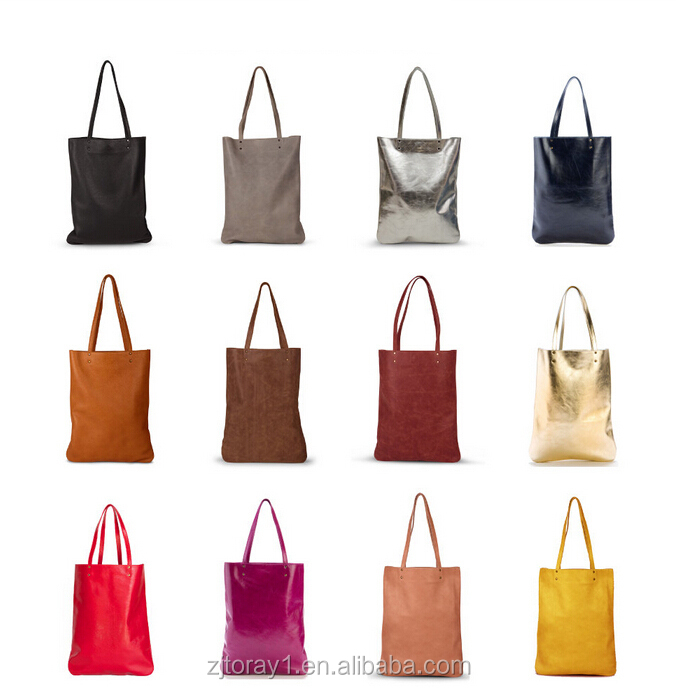 Fashion Plain PU Single Shoulder Bag for College Student