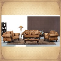 Foshan Golden Supplier Nice Designs Antique Living Sofas 3+2+1 Top China Furniture