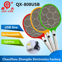 QX808USB-4 chaozhou electric factory best seller product free sample electric fly zapper racket
