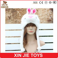 rabbit animal hat long eared plush animal hats winter animal head hat