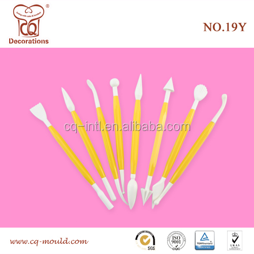 8PCS ABS Flower Modelling Craft Fondant decorating cake tools