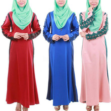 Wholesale Modern Women Abaya Baju Kebaya Dress With Long Sleeve