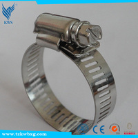 american type stainless steel hose clamp/hose hoops/clips