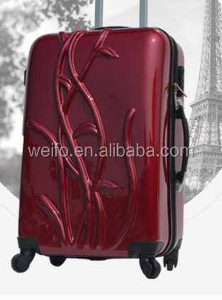 beautiful design abs+pc spinner luggage set