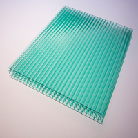 Tripled three layers polycarbonate hollow sheet,pc panel