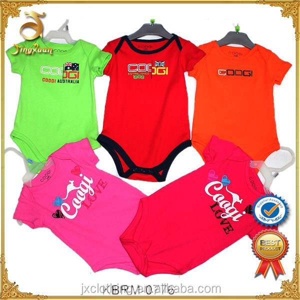 Wholesale 100% Cotton Baby Garments High Quality Baby Bodysuit Surplus