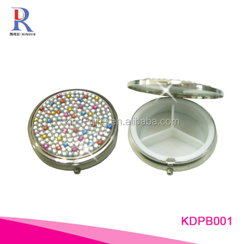 Wholesale hot sales bling bling colored rhinestone luxury jewelry lockable children safe small pill box