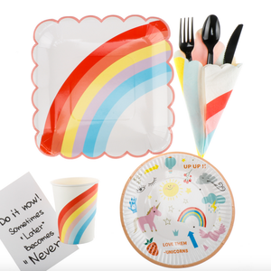 rainbow small paper plate for party decoration