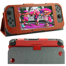 PU Leather Protective Cover Case With Stand Function for Nintendo Switch NS Console Leather Case