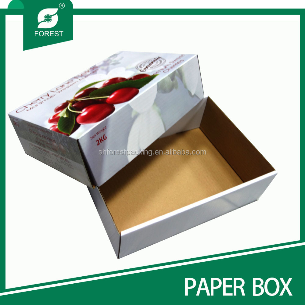 HIGH QUALITY CHEAP CARDBOARD BOX FOR FRUIT AND VEGETABLE WITH MATT LAMINATION