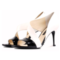 Sexy elegant women shoes peep toe new design patent leather upper average wholesale price shoes)