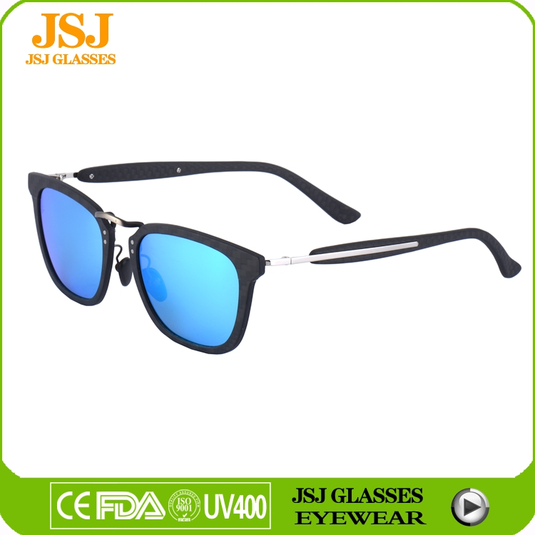 Wholesale native cat eye sunglasses carbon fiber combine metal material