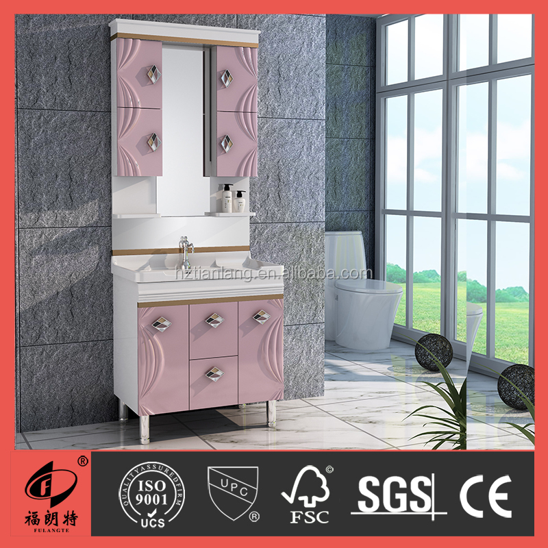 2016 New design PVC bathroom vanity with side <strong>cabinet</strong> 1001