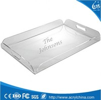 wholesale lucite tray ,custom made acrylic serving tray
