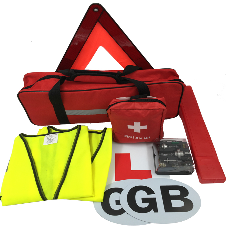 Car Emergency Road Assistance Kit with L Magnet Sticker for Outdoor Use