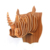 KD animal head decoration carved wooden rhino from China