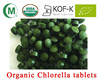 Natural organic certificated chlorella vulgaris/organic chlorella powder/chlorella tablet produced in greenhouse