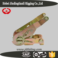 Metal belt buckle for ratchet tie down