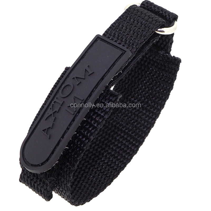 Stamp Logo Nylon Fabric Sports Watch With Velcro Strap