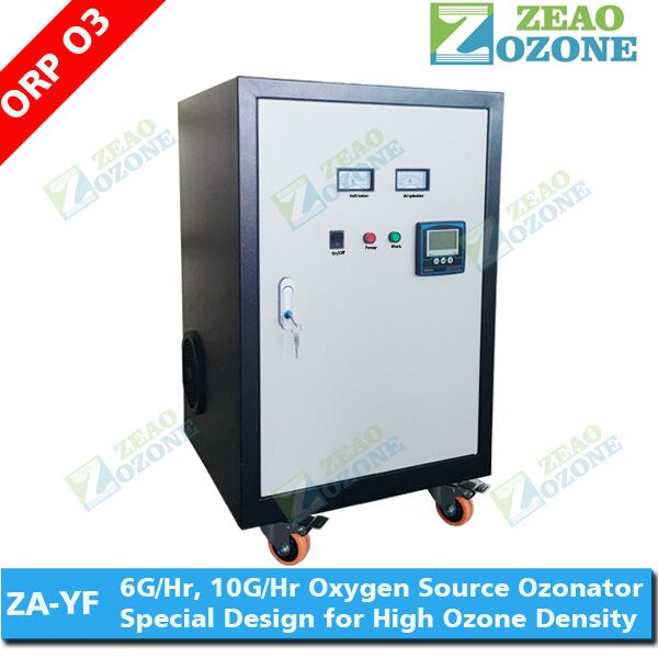 air cooled ozone generator 10g with ORP meter, ozonator machine for aquaculture water
