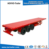 40ft 45ft 20ft Flatbed Container Chassis