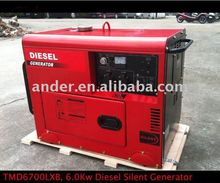 6.0Kw Diesel Silent Portable Generator with CE GS EPA