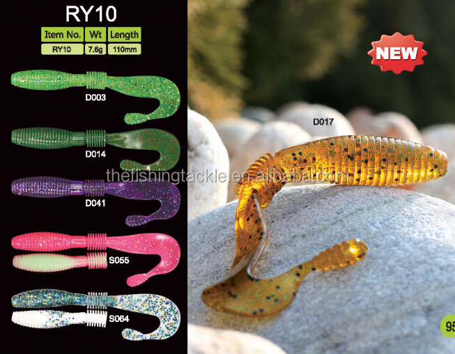 7.6g Soft plastic fishing lures grubs