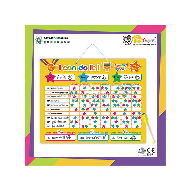 ODM Top Quality Educational Wall-hanging Behavior Magnetic Chart