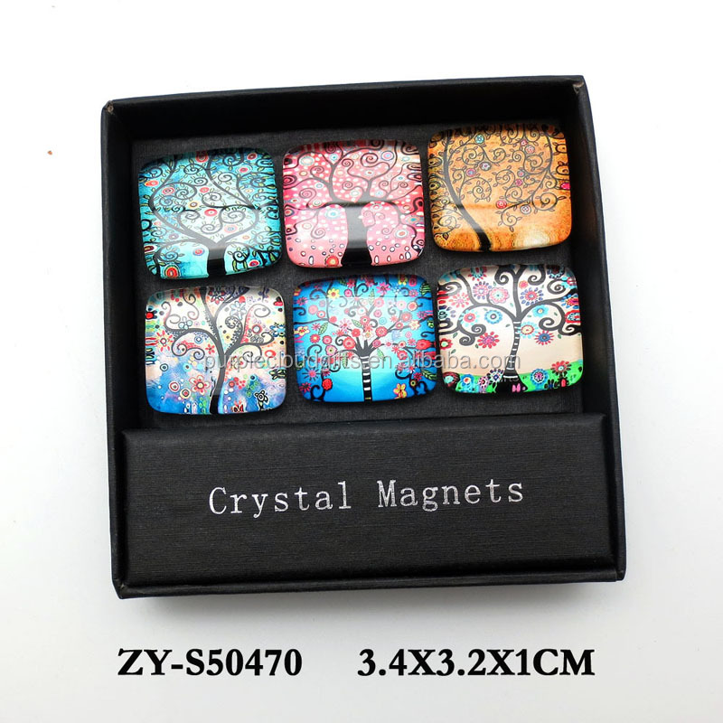 wholesale small round glass magnet for souvenir