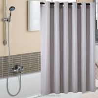New style bathroom jacquard fabric hookless waffle shower curtain