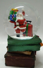Snowman with Chrismas Tree Resin Water Globe, Home Decoration
