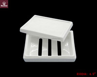High quality durable porcelain soap dish with lid H10244
