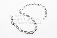 High strength metal round link chain for decoration hanging lamp