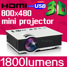 Best Family Gift Home Theater 1080p 1800lumens LED LCD Video Game pICo Mini 3D Projector HDTV HDMI USB AV Proyector Projetor