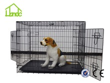 new design folding dog cage foldable large dog pet cage with two door dog kennel