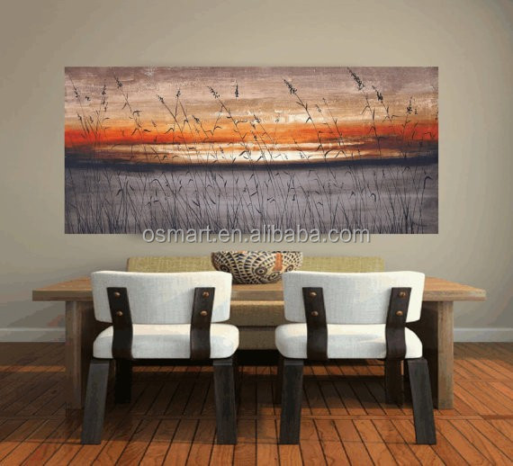 Expert Artist Hand-painted High Quality Kinds of Landscape Oil Painting on Canvas Beautiful Tree Oil Painting for Living Room