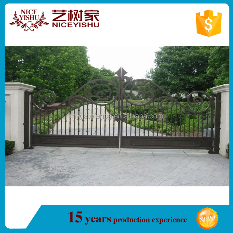 Factory price simple house gate designs steel gates grill for Minimalist house gate design