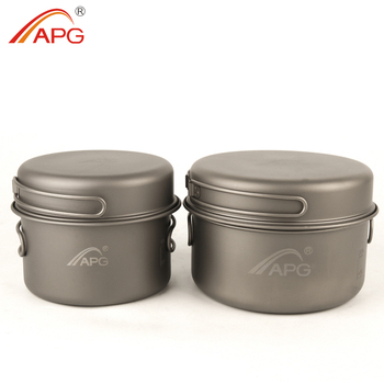 APG Big Titanium Camping Metal Cookware Pot