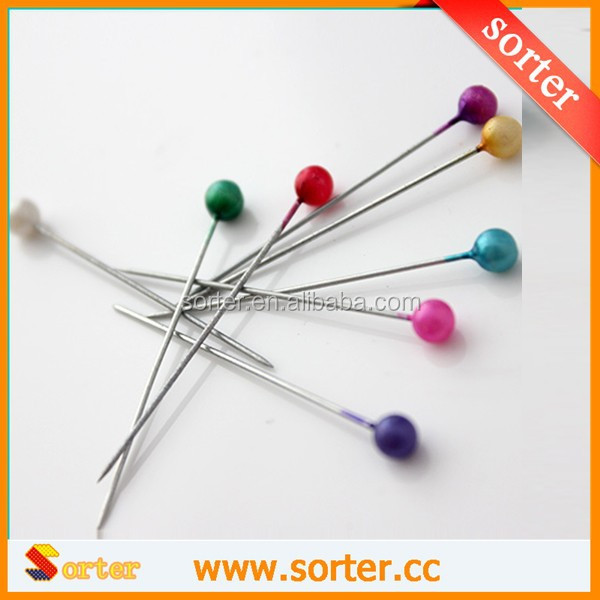 Colorful Decorative Pearl Head Safety Pin For Garment Accessory