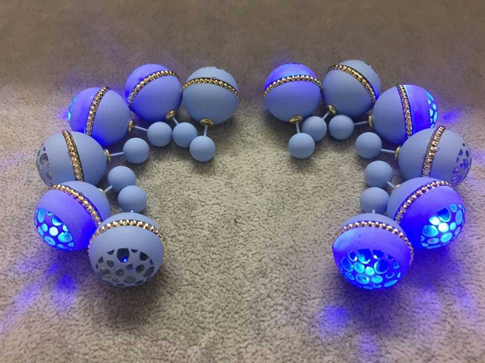 2017 best Flash light earring bead stud earring