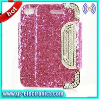 New PU Leather Bling Cell Phone Cases for Samsung Galaxy S5 I9600 Accessories