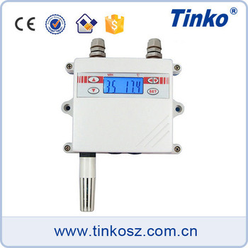 TINKO Automative Air Display Temperature Transmitter For HVAC System Mdobus Humidity Sensor Transmitter