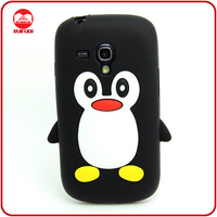Hot Selling Penguin 3D Animal Shaped Soft Silicone Cute Case for Samsung Galaxy S3 Mini